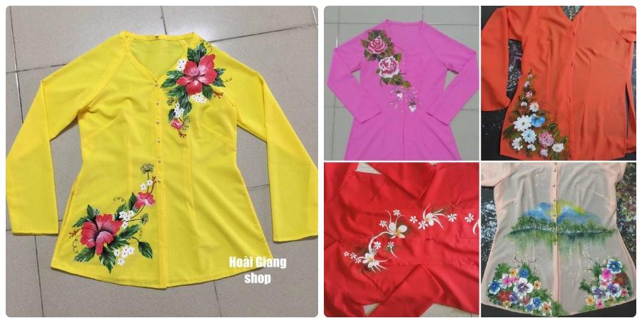 Trào lưu áo bà ba vẽ họa tiết tại Hoài Giang shop