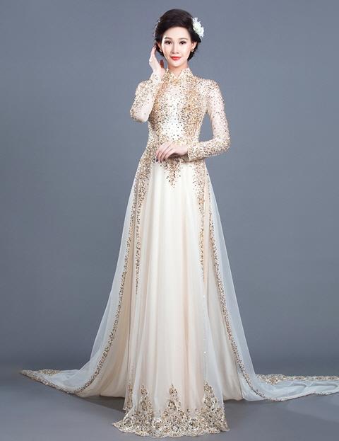 May bán và cho thuê áo dài cưới cô dâu