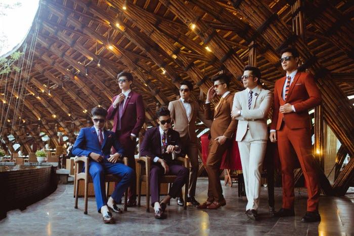 vest nam màu sắc chụp ảnh cưới