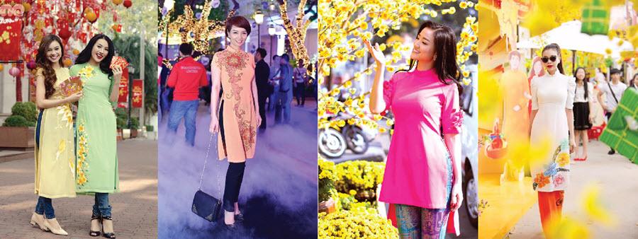 Hot: Địa chỉ thuê áo dài nữ cách tân ngày Tết