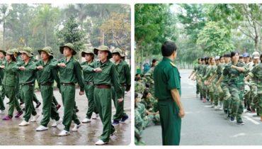 Bán trang phục học quân sự cho sinh viên
