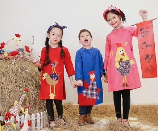 Áo dài cho trẻ em ngày Tết