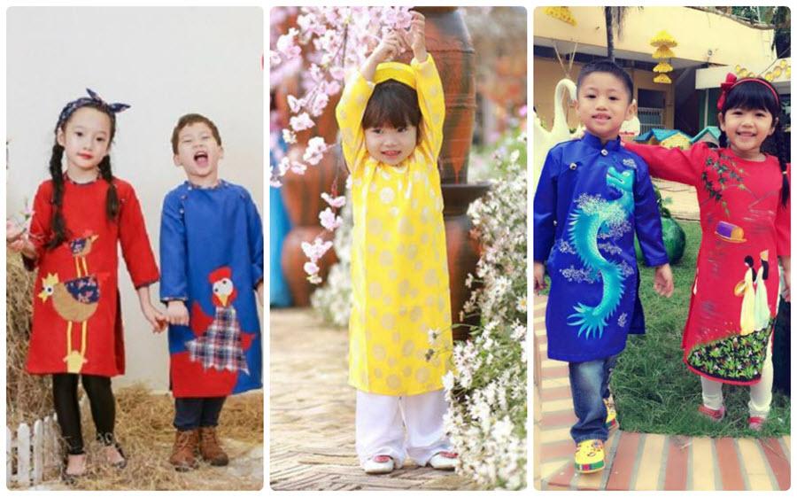 Hoài Giang shop – Áo dài trẻ em ngày tết siêu đẹp
