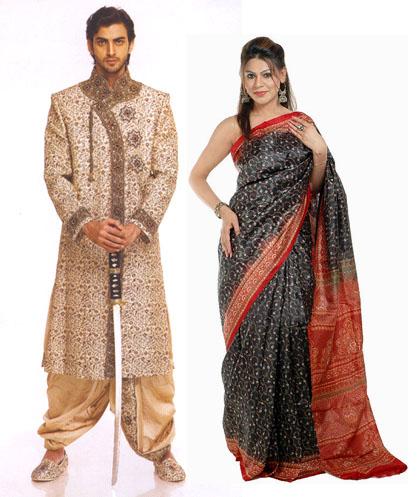 Sari lộng lẫy cho nam và nữ