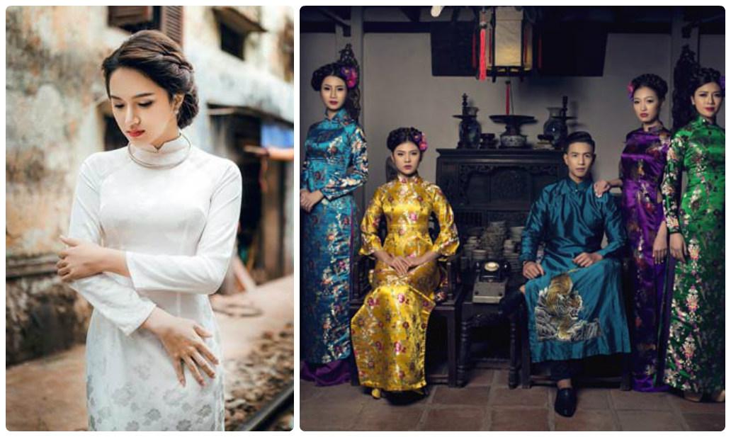 Hoài Giang shop chuyên may áo dài xưa tôn vinh nét đẹp người phụ nữ Việt