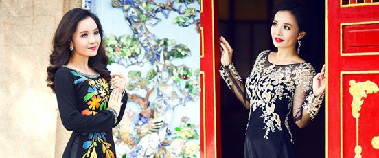 Áo dài bà sui đến từ Hoài Giang Shop được thiết kế hài hòa, đẹp mắt