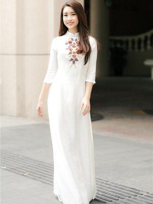 địa chỉ thuê áo dài trắng đơn giản