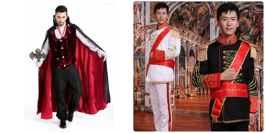 Bán và cho thuê trang phục hoàng tử