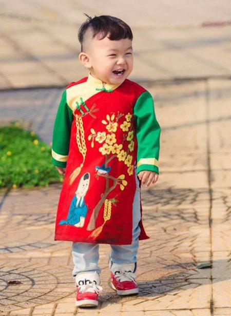 Bán áo dài bé trai cao cấp chất lượng
