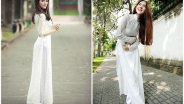 Cho thuê áo dài trắng tinh khôi tôn nét đẹp của phụ nữ Việt Nam
