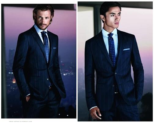 Áo vest nam màu xanh đen đầy lịch lãm, hiện đại